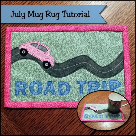 Road trip summer mug rug tutorial