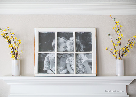 DIY Fancy Window Picture Frame