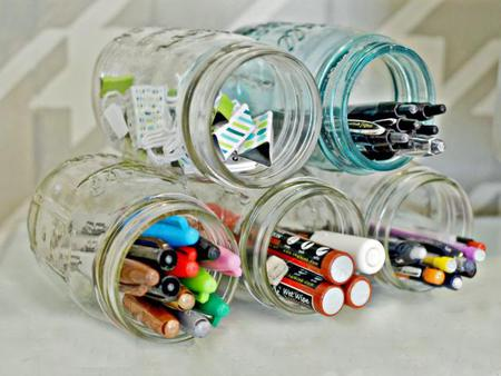 DIY Supply Jar Holder