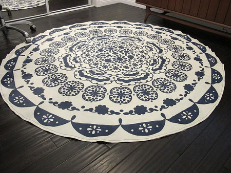 DIY Carpet From Table Cloth