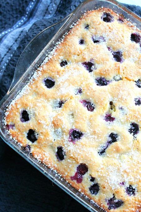 Blueberry Buttermilk breakfast cake