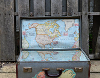 Brilliant Vintage Map Suitcase