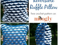 Reversible Ruffle Pillow