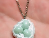 Bird's Nest Necklace Pendant