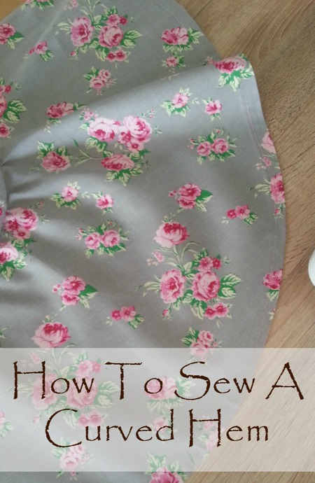 How to hem a curve sewing tutorial