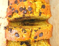 Pumpkin chocolate chips bread