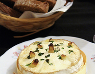 Camembert With Garlic and Rosemary