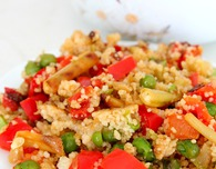 Couscous and roasted veggies salad