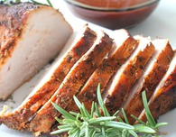 Brined roasted turkey breast