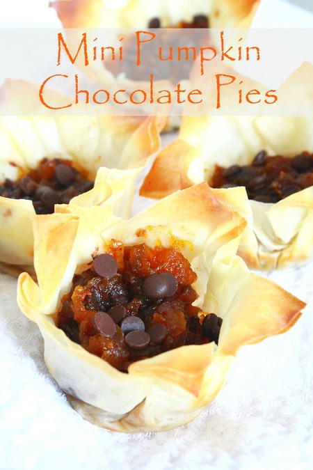 Mini pumpkin chocolate pies