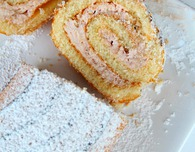 Strawberry Cream Swiss roll