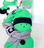 DIY sock snowman Christmas ornament