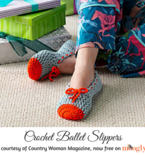 Crochet Ballet Slippers