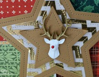 Reindeer Star Card