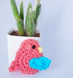 bird easy crochet applique free pattern