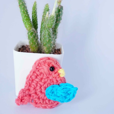 bird easy crochet applique free pattern