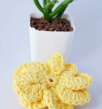 easy pinwheel crochet flower free pattern
