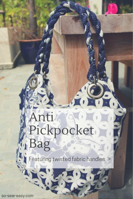 Anti pickpocket bag: FREE pattern, tutorial, and video sew-along