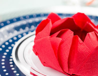 Origami Lotus Flower Napkin Folding Technique