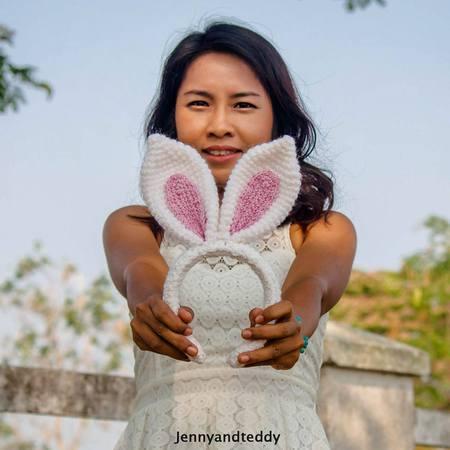 30 minutes bunny ear headband