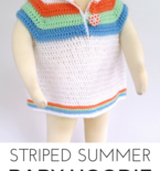 Striped Summer Baby Hoodie