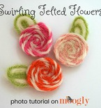 Swirling Felted Flowers