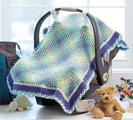 Yarn Pooling Baby Car Seat Cover Crochet Pattern Craftfoxes