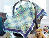Yarn Pooling Baby Car Seat Cover Crochet Pattern