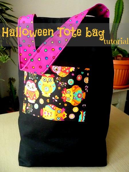 Halloween tote bag
