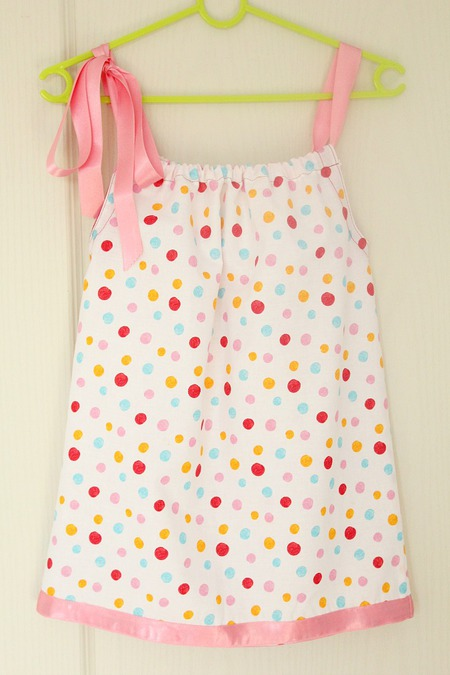 The easiest pillowcase dress ever