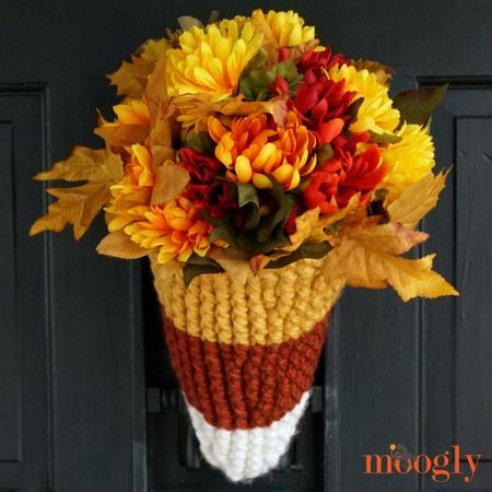 Candy Corn Door Basket