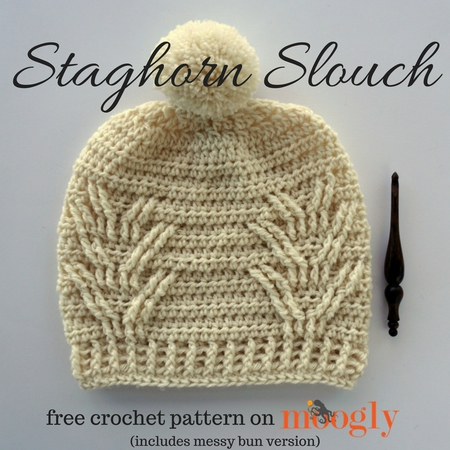 Staghorn Slouch (with Messy Bun Version)