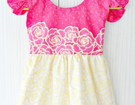 Flutter sleeve dress pattern