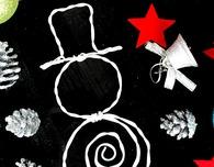 DIY wire snowman Christmas ornament