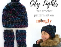 City Lights Hat and Mitts Set