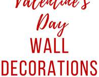 Valentine's day wall decorations
