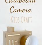 DIY cardboard camera craft for kids