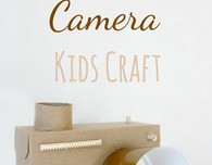 DIY cardboard camera craft for kids