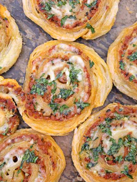Meat pinwheels with ground beef