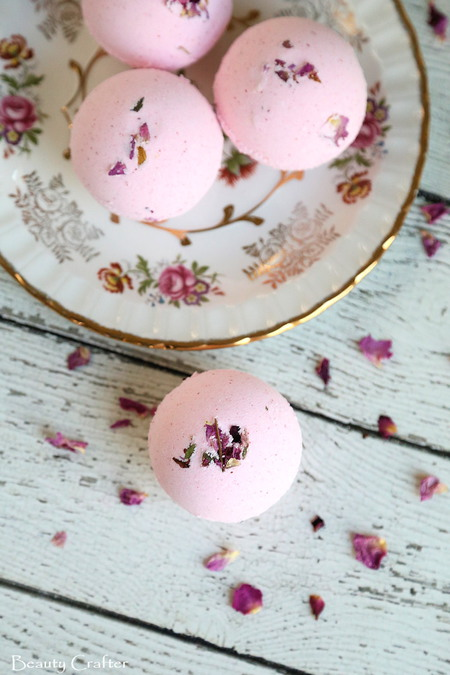 Rose DIY Bath Bombs