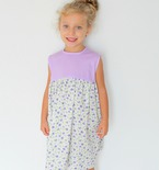 Gathered dress pattern for girls