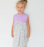 Gathered dress pattern for girls