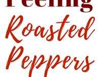 Easy way to peel roasted peppers