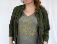 DIY Shamrock Crochet T-Shirt