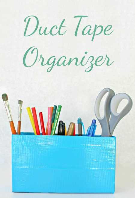 Duct tape organizer