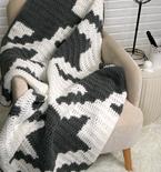 Houndstooth Squares Blanket