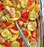 Sweet and spicy turkey veggie dinner