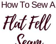 Flat felled seam sewing tutorial