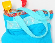 Towel beach bag sewing tutorial
