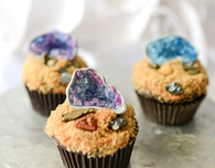 Edible Geode Cupcake Topper